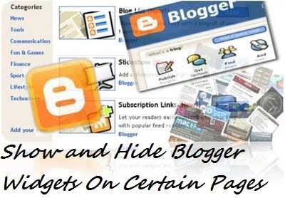 How to display only content posts or pages on blogger