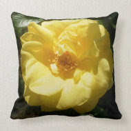 Yellow Rose throwpillow