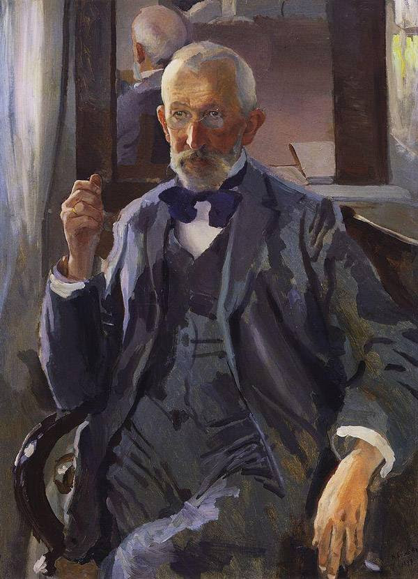 Портрет А.И.Сомова, отца художника. 1897