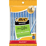 BIC Xtra Life Ballpoint Pens, Medium Tip, 10ct - Blue