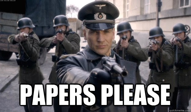 Nazi Papers Please Gif