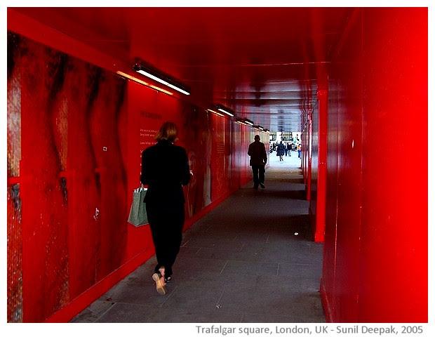 Trafalgar square, London, UK - images by Sunil Deepak, 2005