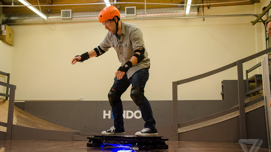 I rode a hoverboard designed to save buildings from earthquakes and floods
