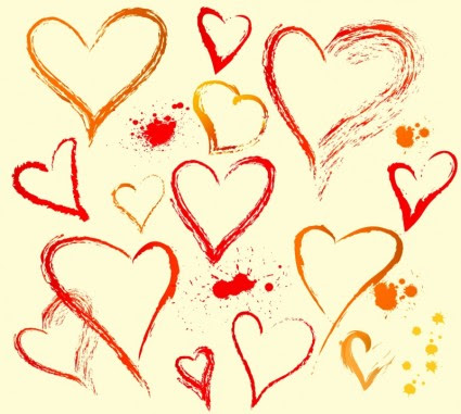 Hand Draw Heart Shape Vector Heart Free Vector Free Download