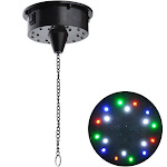 TheLAShop 6RPM Electric 18 LEDs Motor for Mirror Disco Ball Rotating