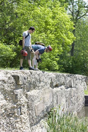 Jon & Scott searching for the bullfrog