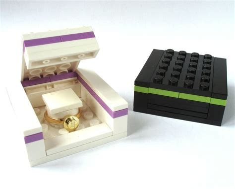 LEGO Ring Gift Box, engagement wedding bride groom double