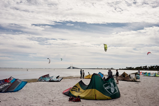 Sunshine Skyway Bridge Kiteboarding