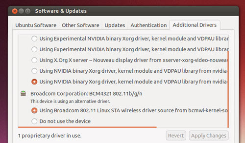 Ubuntu provides drivers - but they're not the latest