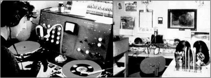 Estudio de Radio Sutch, posteriormente Radio City