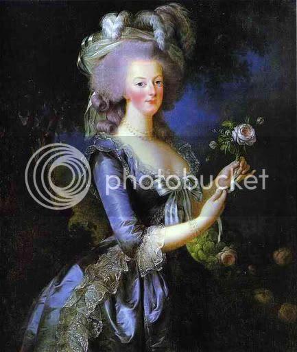 Marie Antoinette a la rose by Elisabeth Vigee-Lebrun