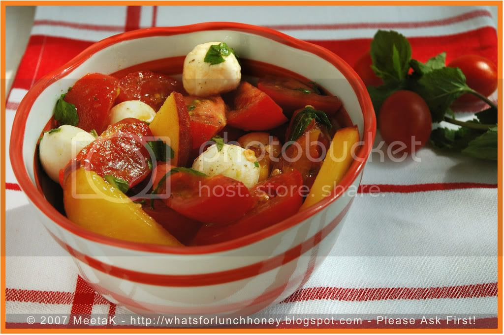 Tomato Peach Salad (03) by MeetaK