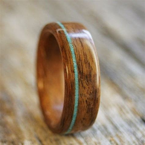 Bentwood Ring   Santos Rosewood Wooden Ring with Offset