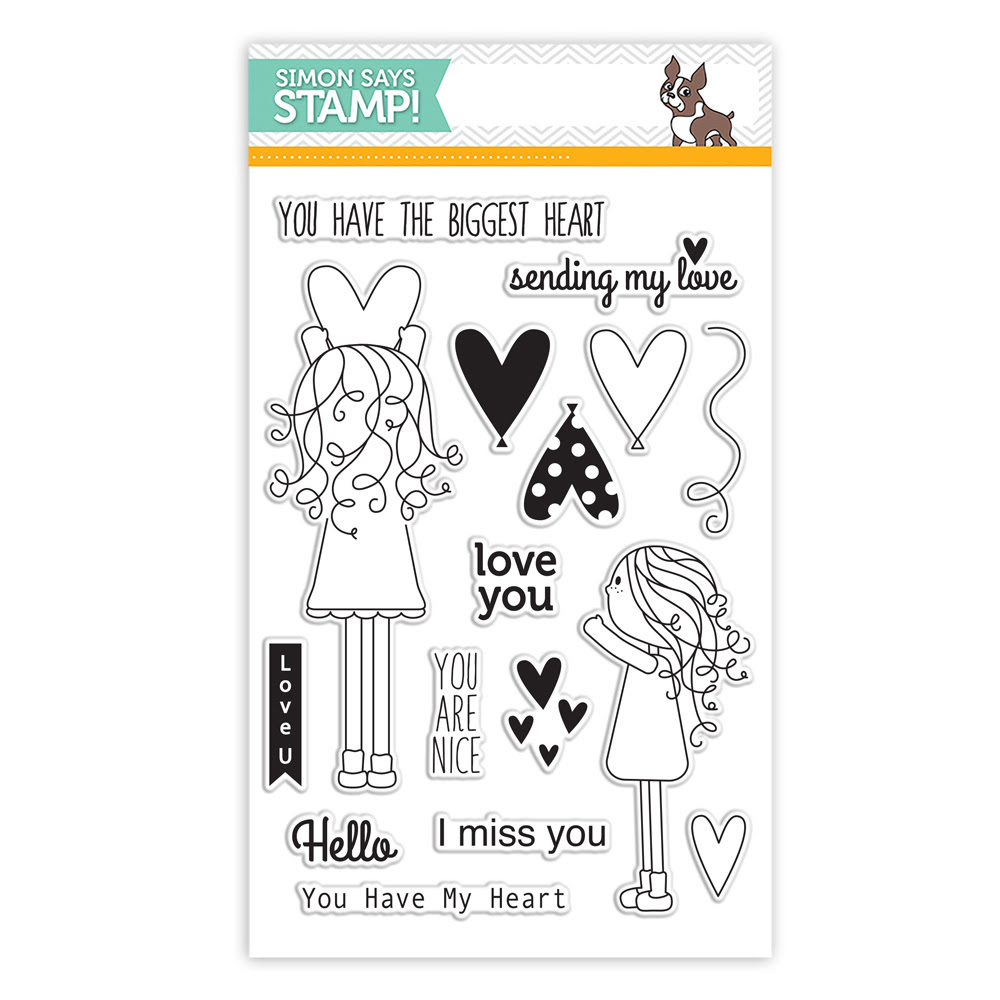 Simon Says Clear Stamps LILA'S HEART sss101531 Falling For You