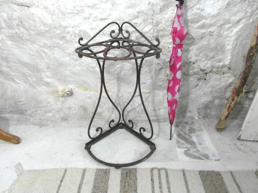 Cast iron umbrella stand French vintage by frenchvintagedream