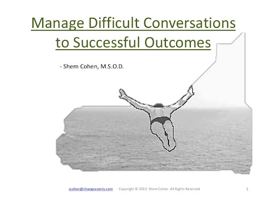 Manage Difficult Conversations to Successful Outcomes_Shem Cohen