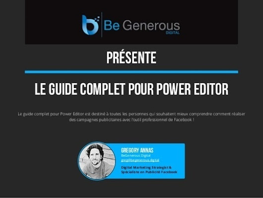 Guide Facebook Power Editor | Marketing pour TPE