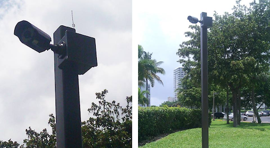 CCTV Pole Installation | Security Camera System Installation Miami - CCTV