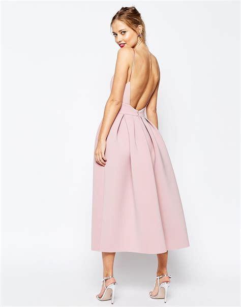 SALON Strappy Pinny Scuba Prom Midi Dress   for a fancy