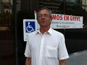 Vendedor de imóveis não apoia o movimento (Foto: Letícia Macedo/ G1)