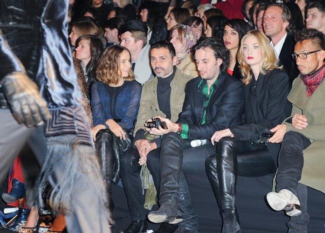 1 Front Row @ Roberto Cavalli Menswear AW1213 fashion show 14-01-2011 Milan