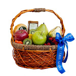 """The Fruit Company """"Special Occasions"""" Fruit Basket, Blue 'Happy Birthday'"""
