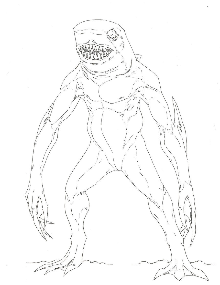 Cookie Cutter Sharks Pictures Coloring Coloring Pages