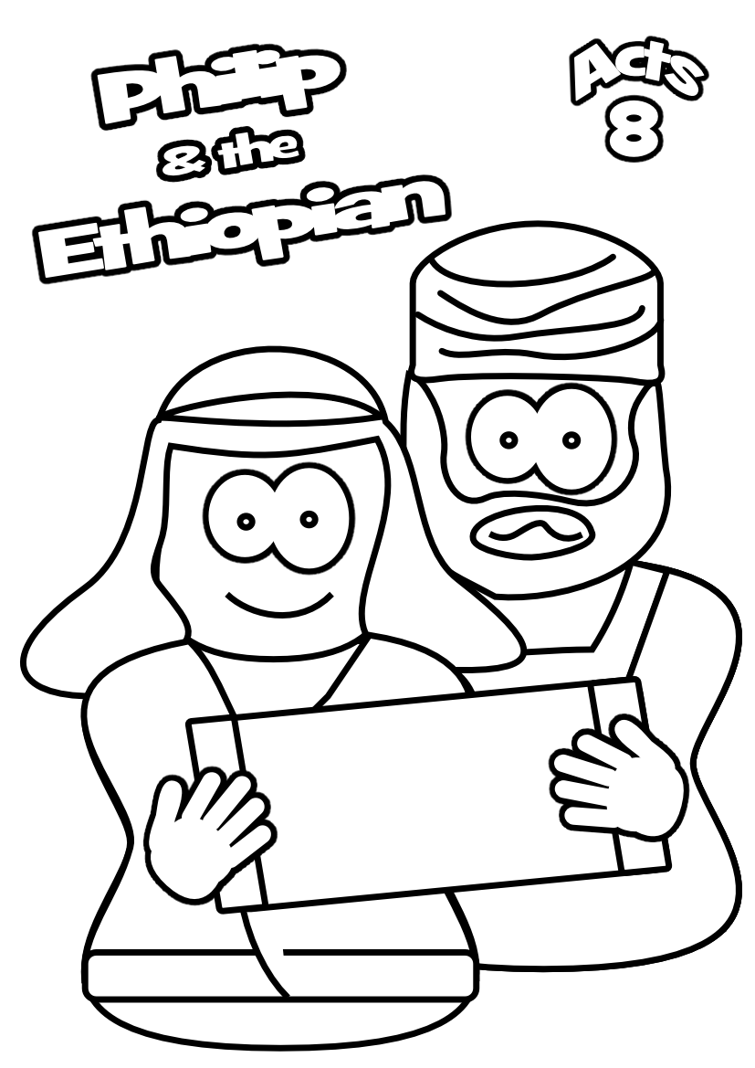 93 Bible Coloring Pages Philip Ethiopian Pictures
