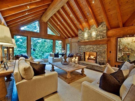 rustic log cabin interiors modern log cabin interior