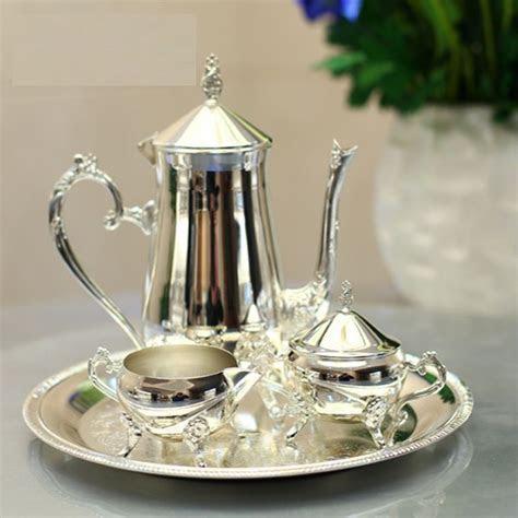 metal tea serving set   New arrival silver plated metal