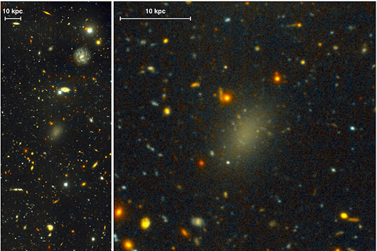 This mysterious galaxy is almost entirely dark matter