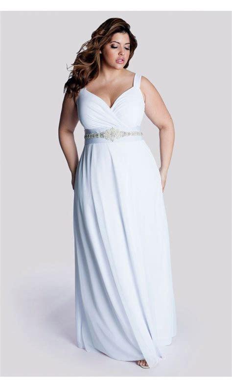 IGIGI Women's Plus Size White Diamonds Wedding Gown at