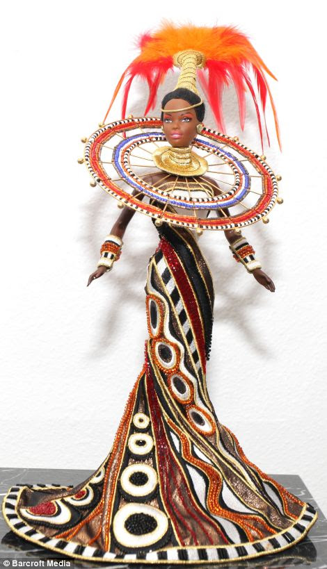 The 1999 Fantasy Goddess of Africa, designed by Bob Mackie, is another treasured doll