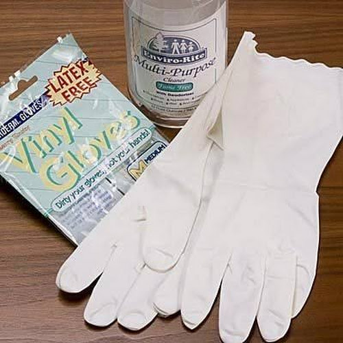 Allerderm Gloves - Vinyl - Large