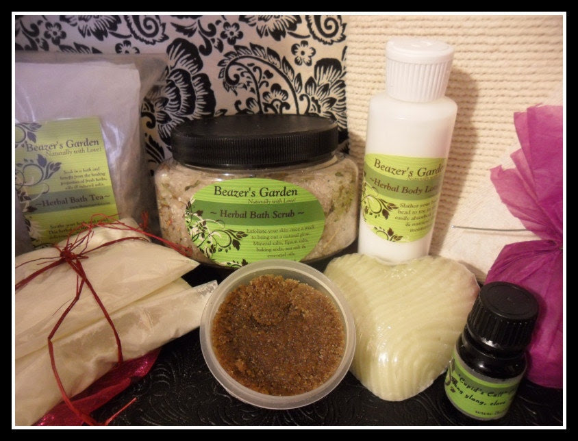 SALE- Herbal Spa Bath Deluxe Set- 25% OFF- Women- Weddings- Holidays- Birthdays