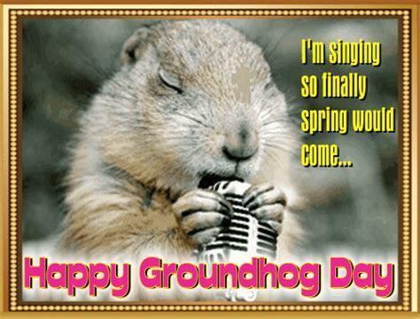 Mr. Groundhog Singing! Free Groundhog Day eCards, Greeting