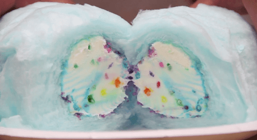 This Magical Ice Cream Burrito Is Wrapped In Cotton Candy