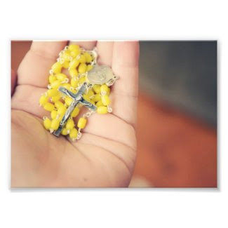 Yellow Rosary Photo Print