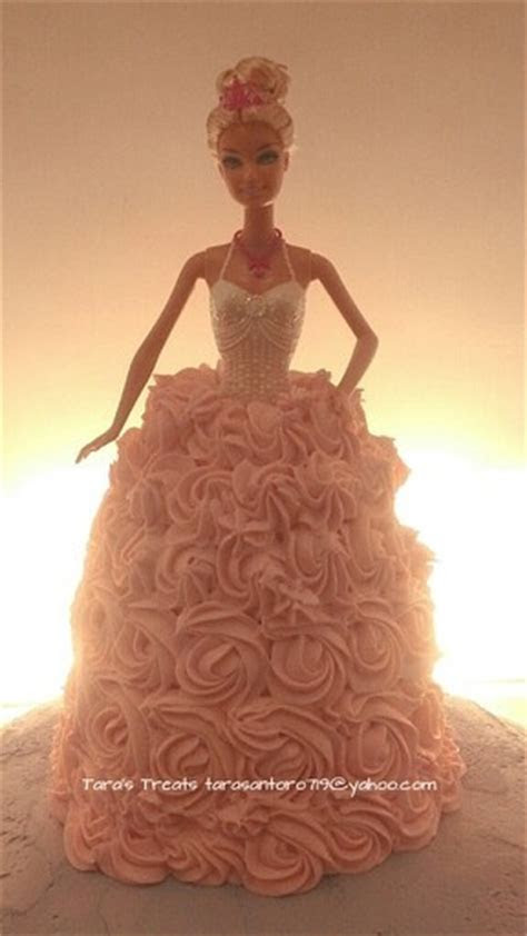 We could make a barbie cake with one of your old barbies