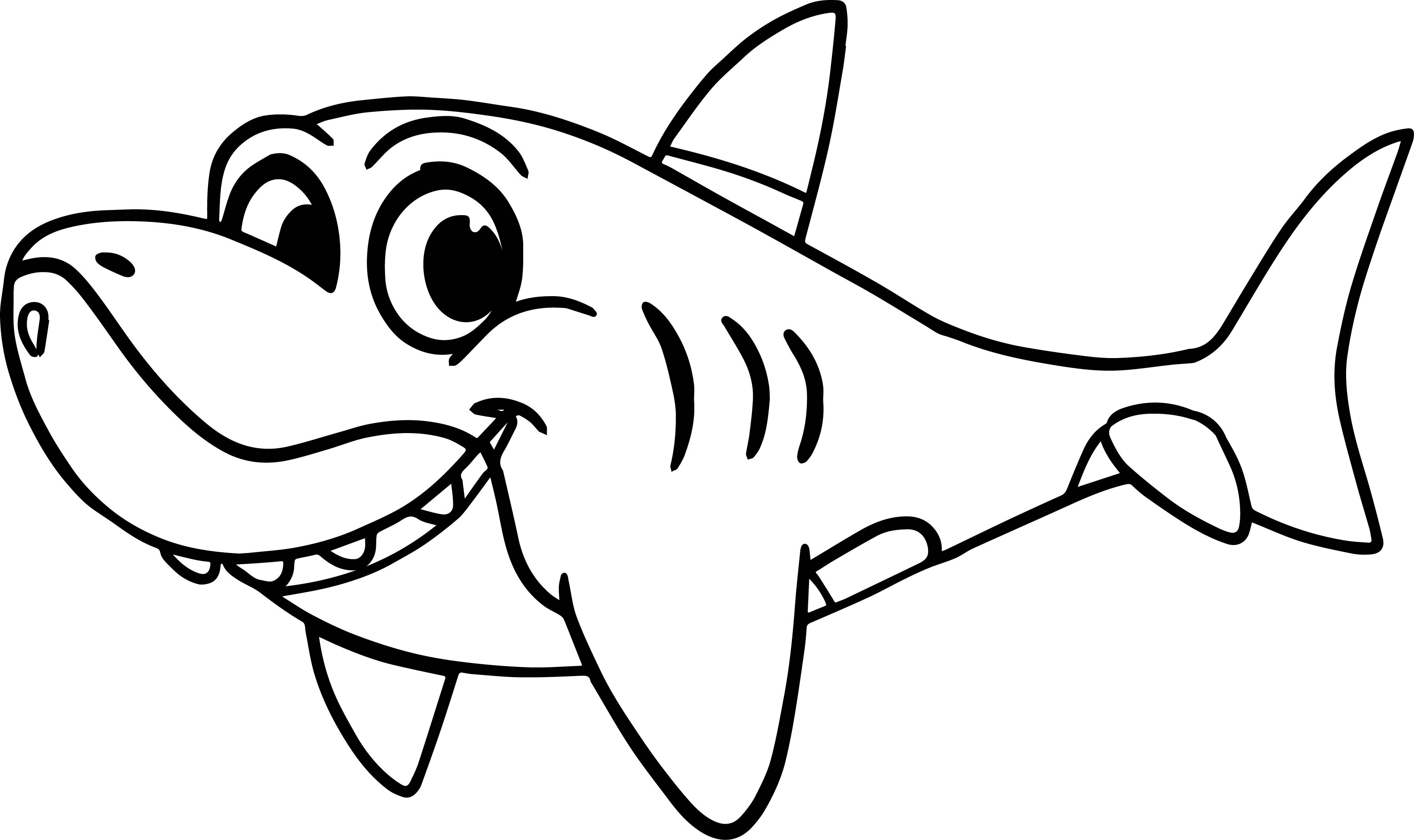 Morphle Cartoon My Cute Shark Coloring Page ...