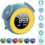 "Sunrise Alarm Clock - 5"" Digital LED Clock with 7 Color Switch Light, 4 Brightless, Wake Up Sunset Simulation Sleep Aid, Touch Control, Snooze, Dual"
