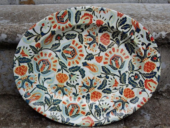 Oval Flower Platter Made in South Africa Tin