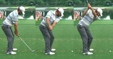 Sequence of Lucas Glover hand positions