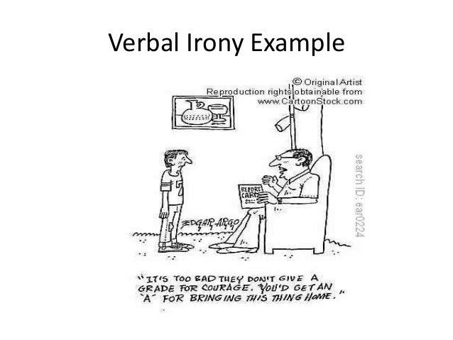 verbal irony examples