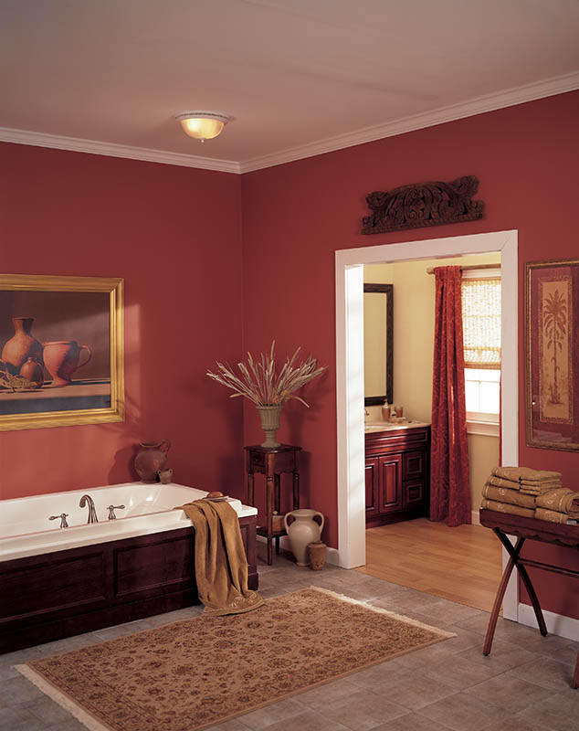 Broan 741WH Decorative Ventilation Fan and Light, White - Bathroom