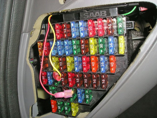 Saab Fuse Box Diagram - Wiring Diagrams