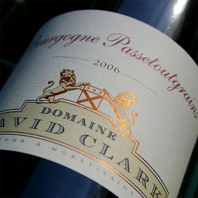 David Clark Bourgogne Passetoutgrains 2006