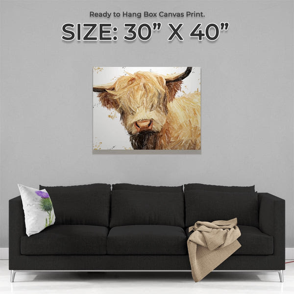Brenda The Highland Cow Canvas Print Andy Thomas Artworks Andy