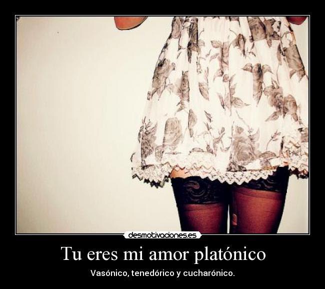 Tu Eres Mi Amor Platonico Desmotivaciones