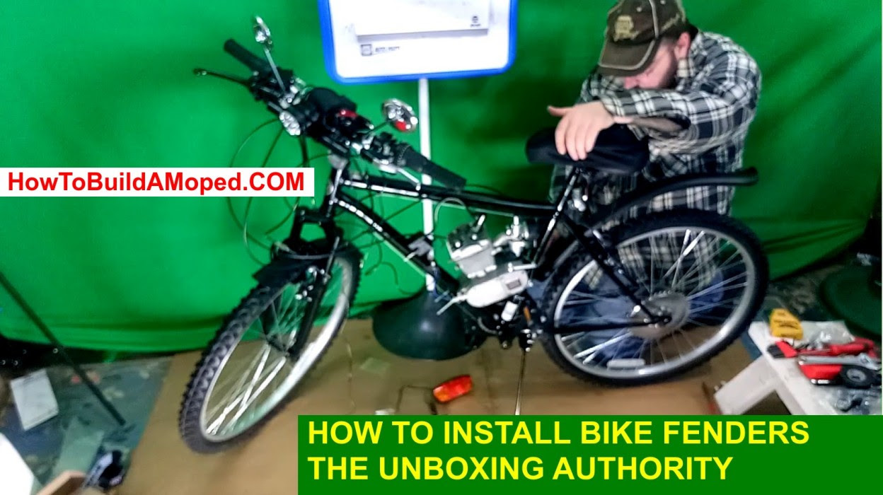 How to Install Bike Fenders How To Install Bike Mud Guards How To Build a Motorized Bicycle Part 13